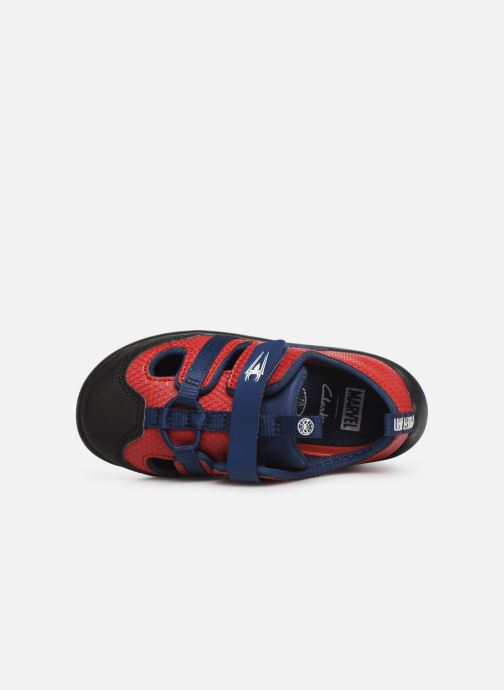 Trainers Clarks Play x Spider-Man Red view from the left
