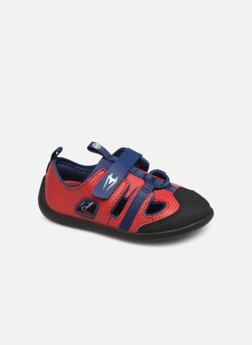 Trainers Clarks Play x Spider-Man Red detailed view/ Pair view