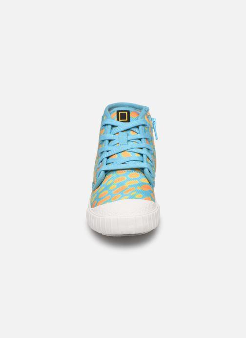 Baskets Clarks Cyrus Geo Bleu vue portées chaussures