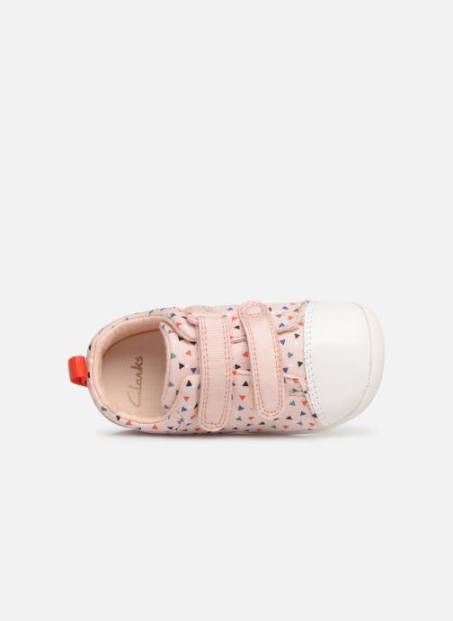 Sneaker Clarks Roamer Craft rosa ansicht von links