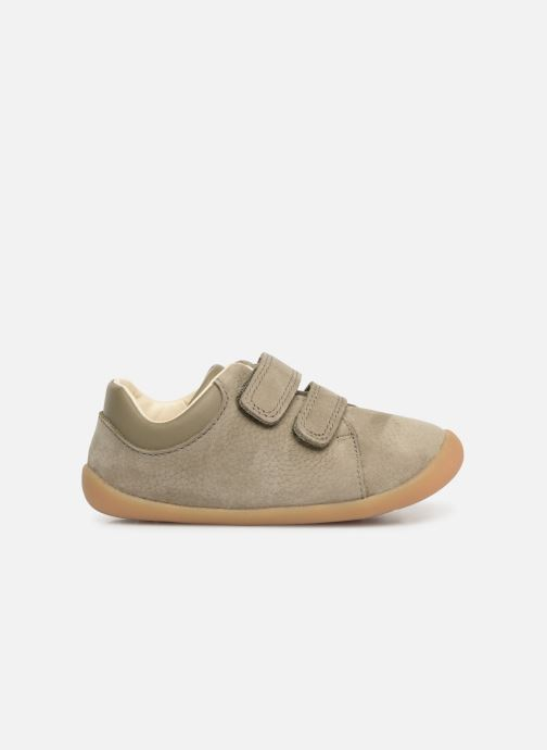 Trainers Clarks Roamer Craft Green back view