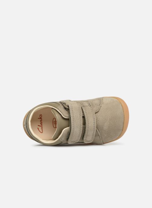 Trainers Clarks Roamer Craft Green view from the left