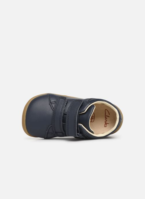 Trainers Clarks Roamer Craft Blue view from the left