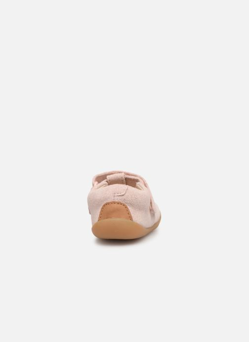 Ballet pumps Clarks Roamer Go Pink view from the right