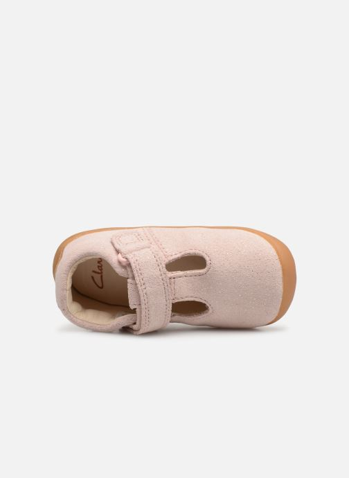 Ballet pumps Clarks Roamer Go Pink view from the left