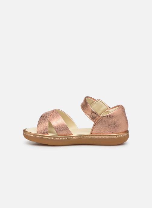 Sandales et nu-pieds Clarks Skylark Pure T Or et bronze vue face