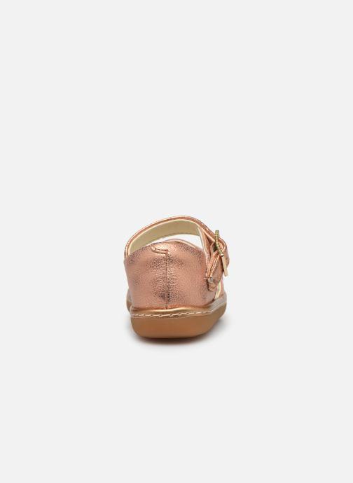 Sandales et nu-pieds Clarks Skylark Pure T Or et bronze vue droite