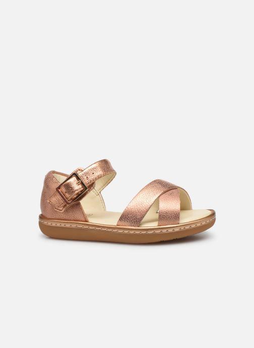 Sandales et nu-pieds Clarks Skylark Pure T Or et bronze vue derrière