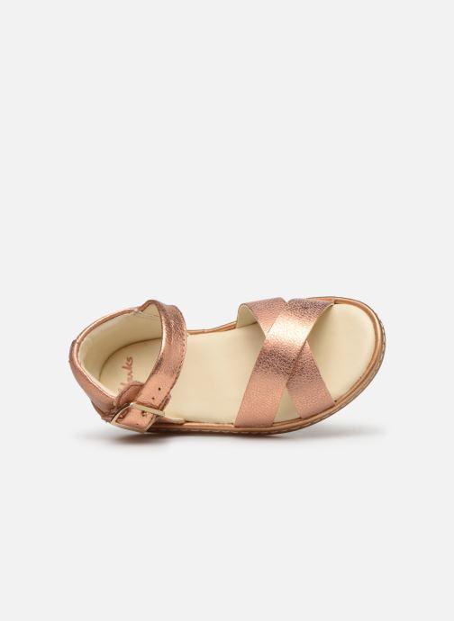 Sandales et nu-pieds Clarks Skylark Pure T Or et bronze vue gauche