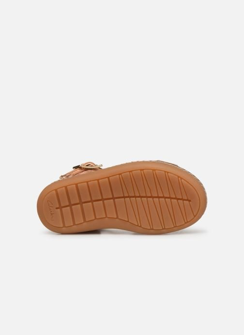 Sandales et nu-pieds Clarks Skylark Pure T Or et bronze vue haut