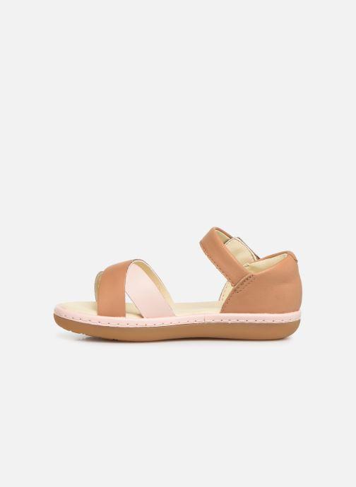Sandales et nu-pieds Clarks Skylark Pure T Beige vue face
