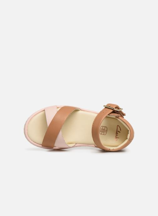 Sandals Clarks Skylark Pure T Beige view from the left