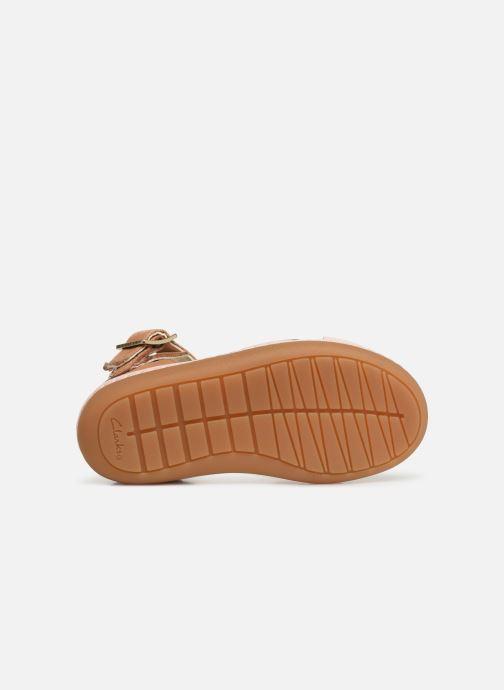 Sandales et nu-pieds Clarks Skylark Pure T Beige vue haut