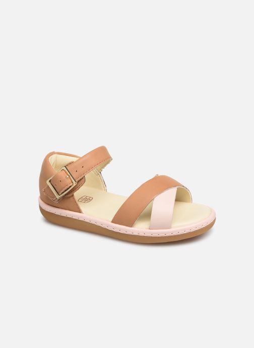 Sandaler Clarks Skylark Pure T Beige detaljeret billede af skoene