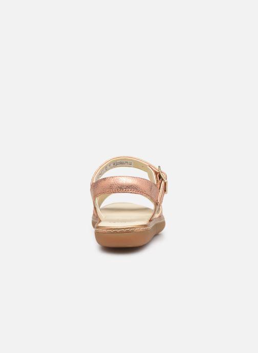 Sandales et nu-pieds Clarks Skylark Pure K Or et bronze vue droite