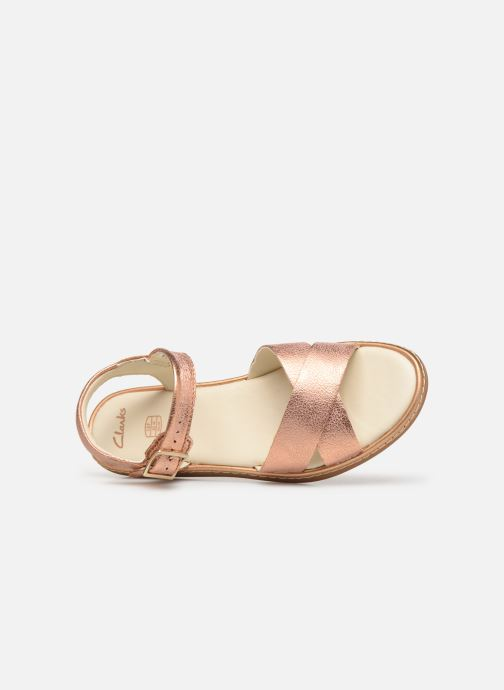 Sandales et nu-pieds Clarks Skylark Pure K Or et bronze vue gauche