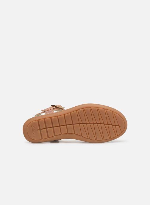 Sandales et nu-pieds Clarks Skylark Pure K Or et bronze vue haut