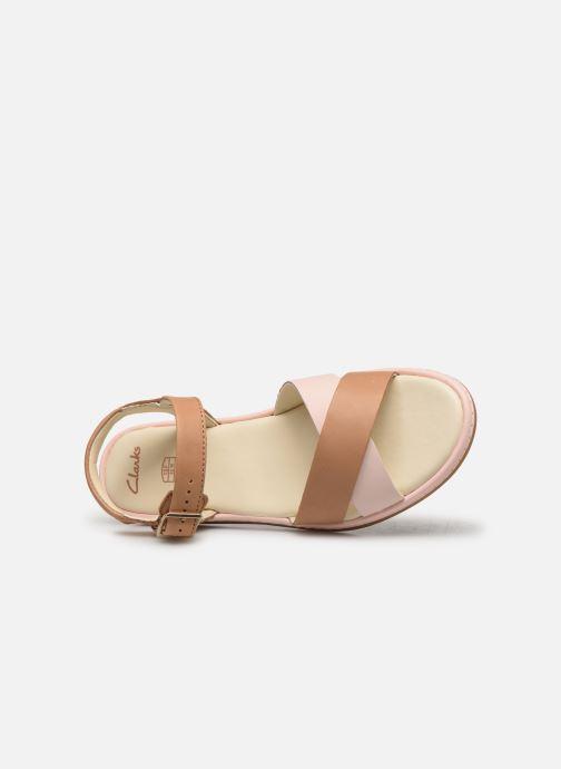 Sandali e scarpe aperte Clarks Skylark Pure K Beige immagine sinistra