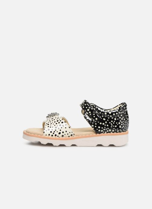 Sandalias Clarks Crown Bloom T Negro vista de frente