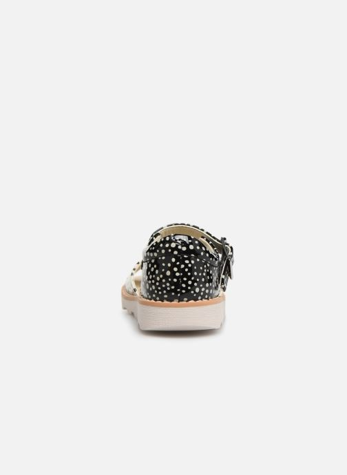 Sandalias Clarks Crown Bloom T Negro vista lateral derecha