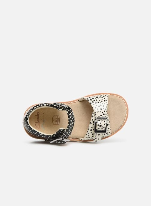 Sandalias Clarks Crown Bloom T Negro vista lateral izquierda