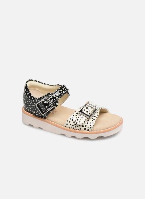 Sandales et nu-pieds Clarks Crown Bloom T Noir vue détail/paire