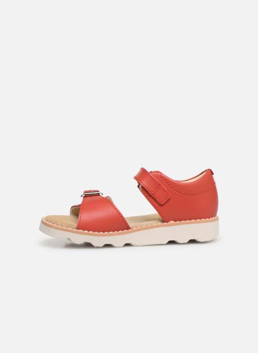 Sandales et nu-pieds Clarks Crown Bloom T Rouge vue face