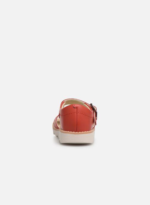 Sandales et nu-pieds Clarks Crown Bloom T Rouge vue droite