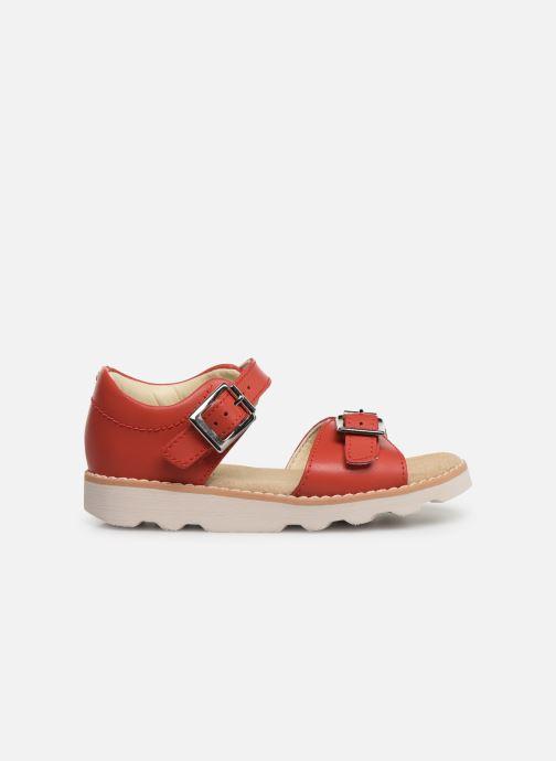 Sandales et nu-pieds Clarks Crown Bloom T Rouge vue derrière