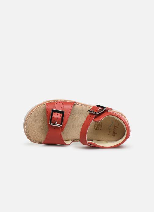 Sandales et nu-pieds Clarks Crown Bloom T Rouge vue gauche