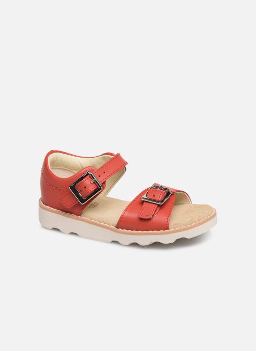 Sandales et nu-pieds Clarks Crown Bloom T Rouge vue détail/paire