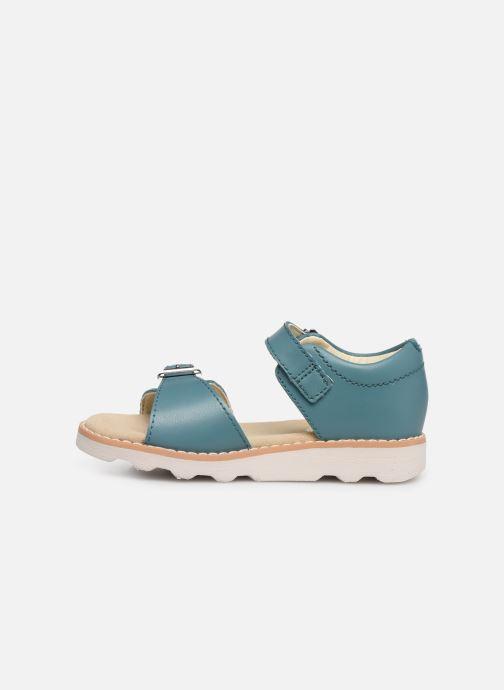 Sandales et nu-pieds Clarks Crown Bloom T Bleu vue face