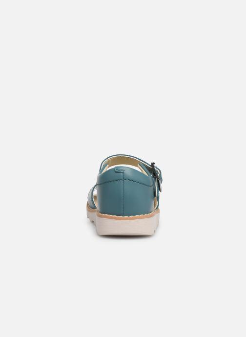Sandales et nu-pieds Clarks Crown Bloom T Bleu vue droite