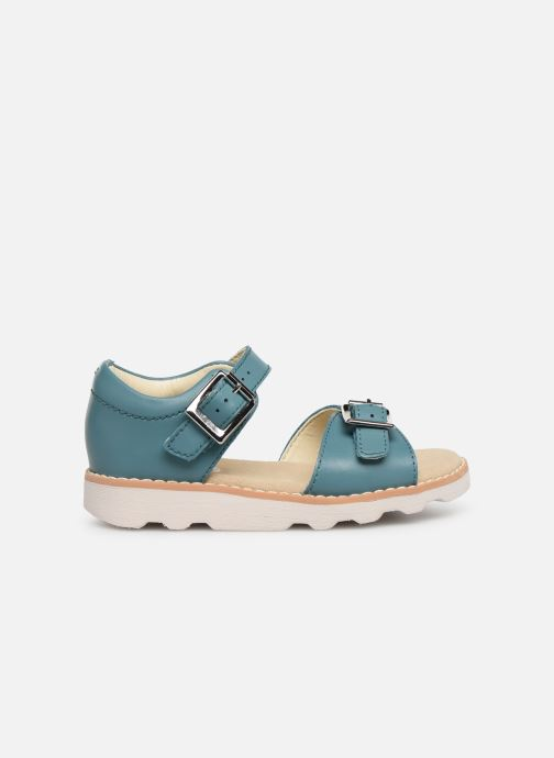 Sandales et nu-pieds Clarks Crown Bloom T Bleu vue derrière