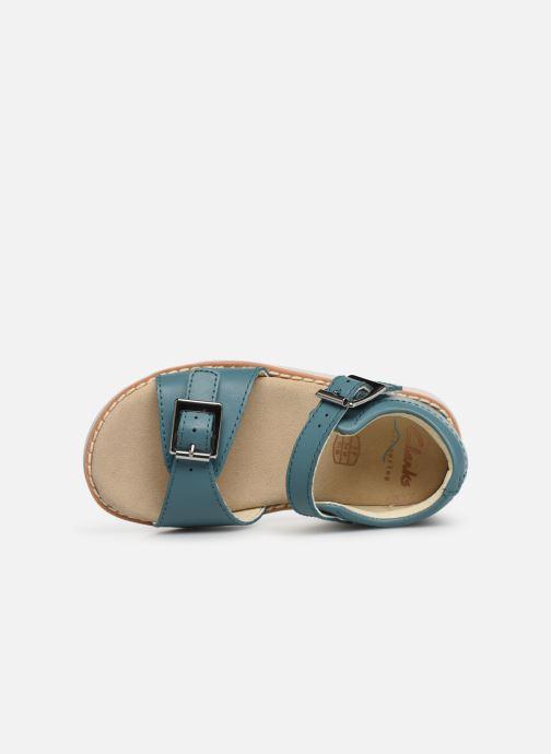 Sandales et nu-pieds Clarks Crown Bloom T Bleu vue gauche