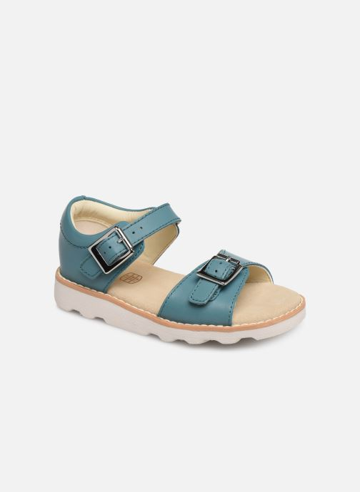Sandales et nu-pieds Clarks Crown Bloom T Bleu vue détail/paire