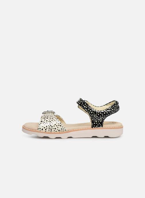 Sandales et nu-pieds Clarks Crown Bloom K Noir vue face