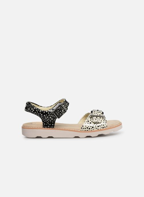 Sandalias Clarks Crown Bloom K Negro vistra trasera