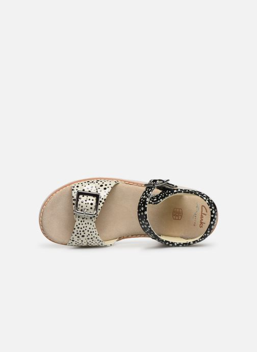 Sandalias Clarks Crown Bloom K Negro vista lateral izquierda