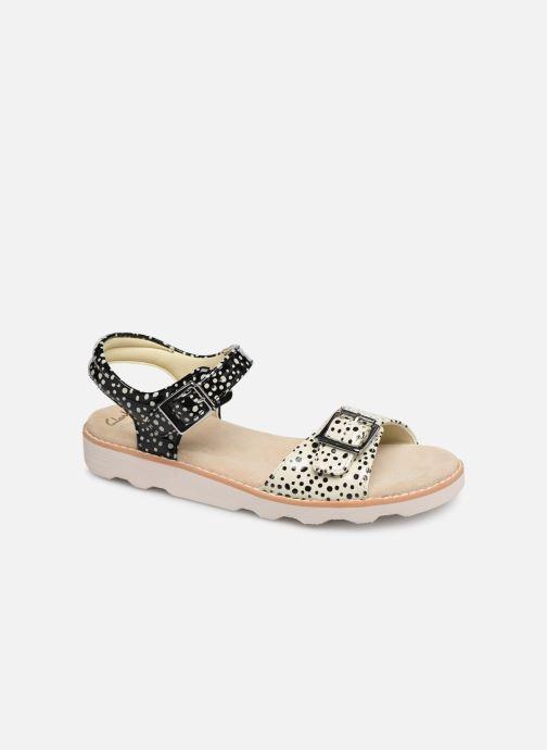 Sandales et nu-pieds Clarks Crown Bloom K Noir vue détail/paire