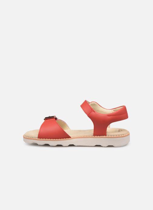 Sandales et nu-pieds Clarks Crown Bloom K Rouge vue face