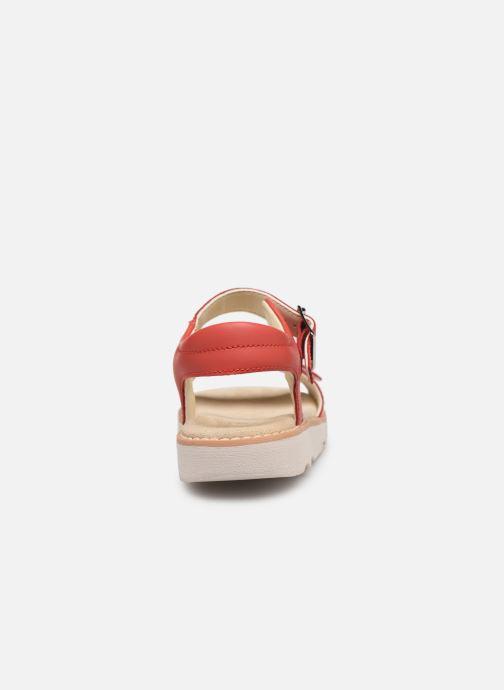 Sandales et nu-pieds Clarks Crown Bloom K Rouge vue droite