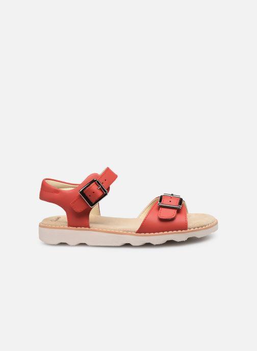 Sandales et nu-pieds Clarks Crown Bloom K Rouge vue derrière