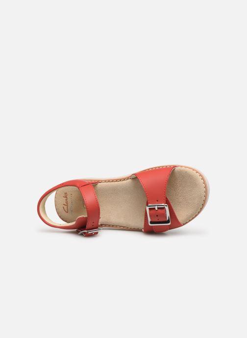 Sandales et nu-pieds Clarks Crown Bloom K Rouge vue gauche