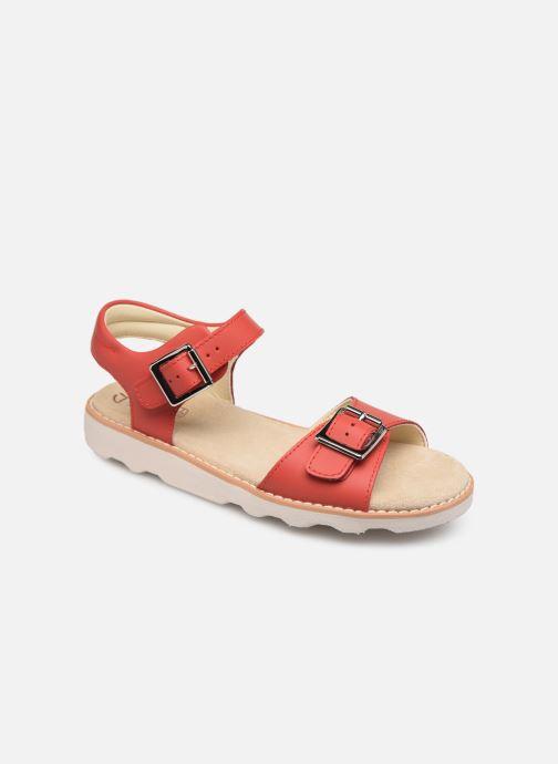 Sandales et nu-pieds Clarks Crown Bloom K Rouge vue détail/paire