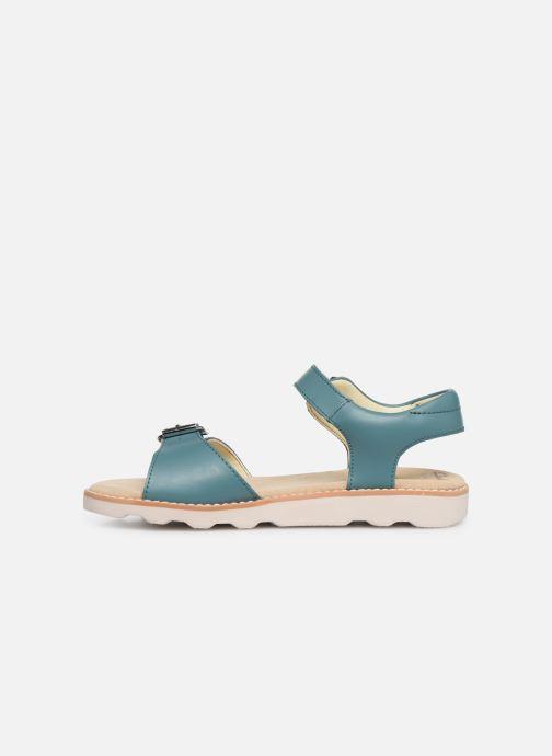 Sandales et nu-pieds Clarks Crown Bloom K Bleu vue face