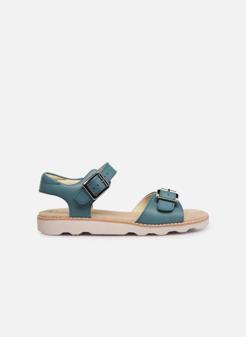 Sandales et nu-pieds Clarks Crown Bloom K Bleu vue derrière