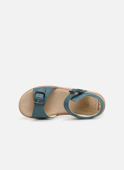 Sandales et nu-pieds Clarks Crown Bloom K Bleu vue gauche
