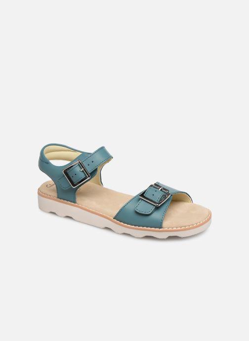 Sandaler Clarks Crown Bloom K Blå detaljeret billede af skoene