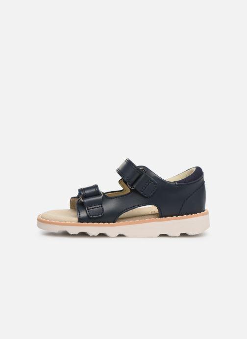 Sandales et nu-pieds Clarks Crown Root T Bleu vue face